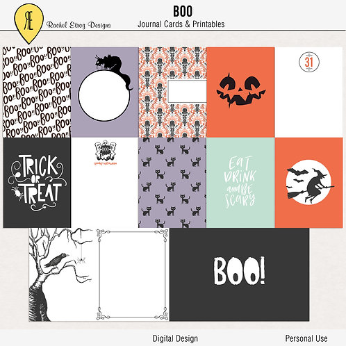 Boo - Journal cards