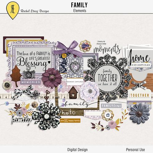 Family - Digital Scrapbooking Elements