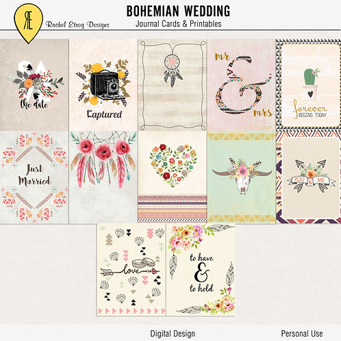 Bohemian Wedding Journal Cards