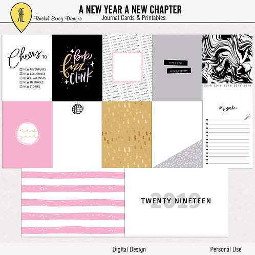 A New Year A New Chapter - Journal cards
