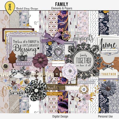 Family - Digital Scrapbooking Full Kit