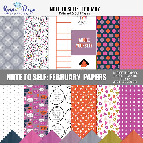 Note To Self February - Papers