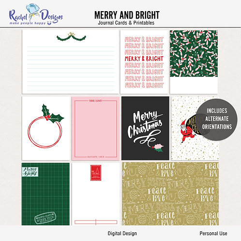 Merry And Bright - Journal cards