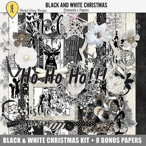 Black And White Christmas Full Kit