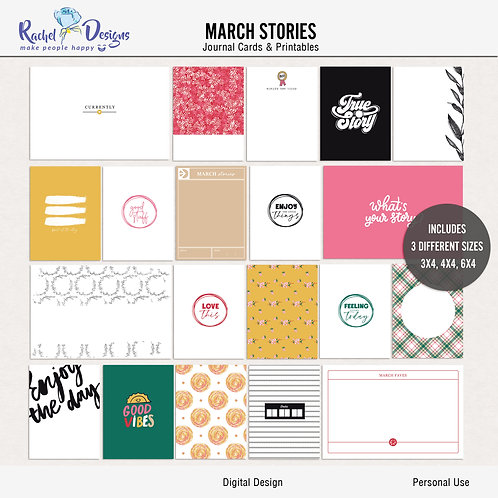 March Stories - Journal cards