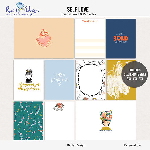 Self Love - Journal cards