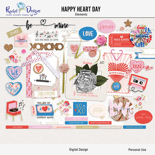 Happy Heart Day - Elements