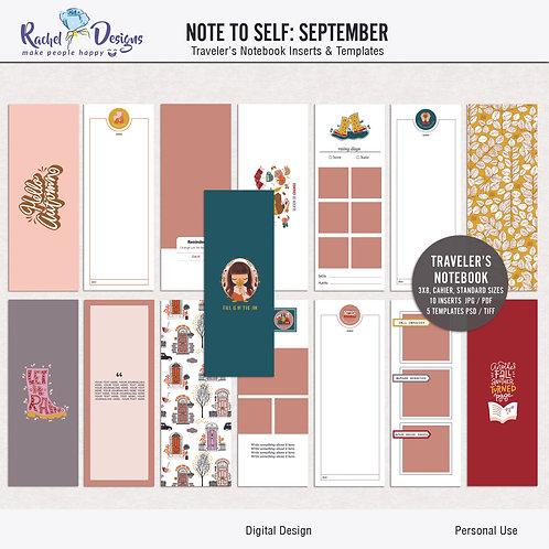 Note To Self September  - Traveler's Notebook