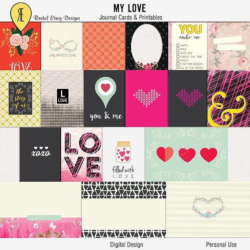 My Love Journal Cards