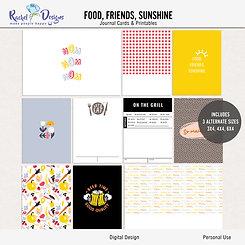 Food, Friends, Sunshine - Journal cards