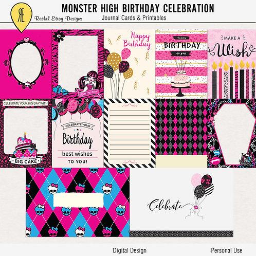 Monster High Birthday Celebration Journal Cards
