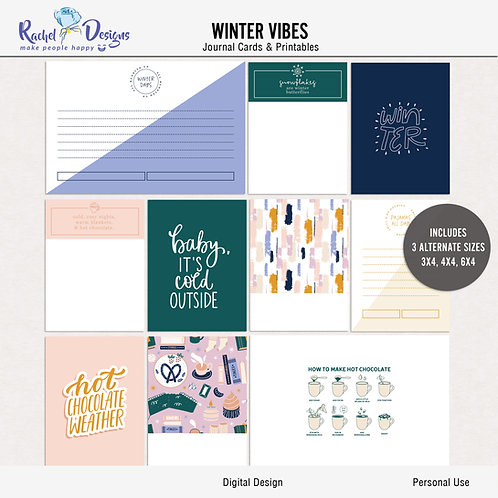 Winter Vibes - Journal cards