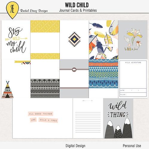 Wild Child - Journal cards