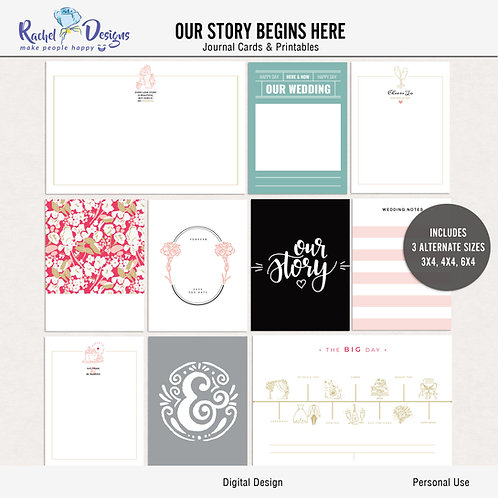 Our Story Begins Here - Journal cards