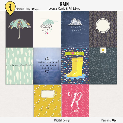 Rain Journal Cards