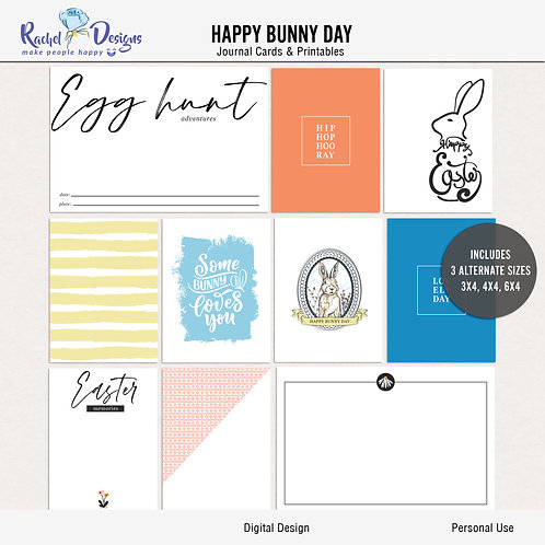 Happy Bunny Day - Journal cards
