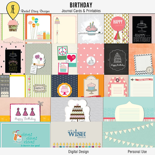 Birthday Journal Cards