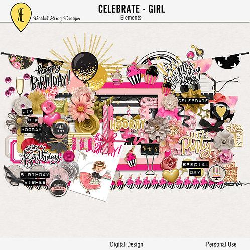 Celebrate Girl - Digital Scrapbooking Elements