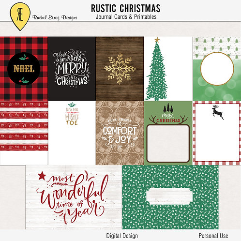 Rustic Christmas - Journal cards