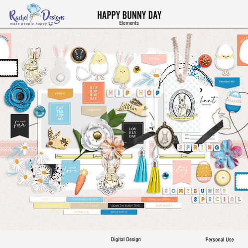 Happy Bunny Day - Elements