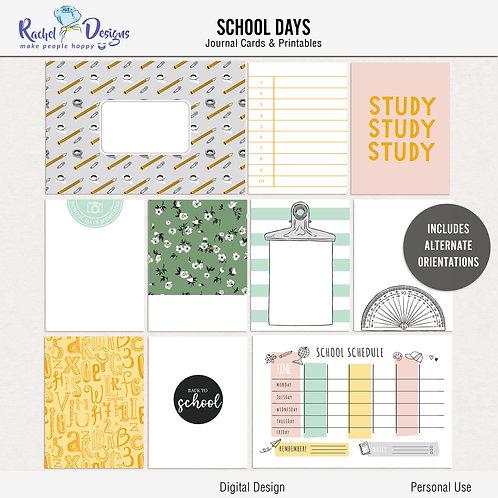 School Days - Journal cards