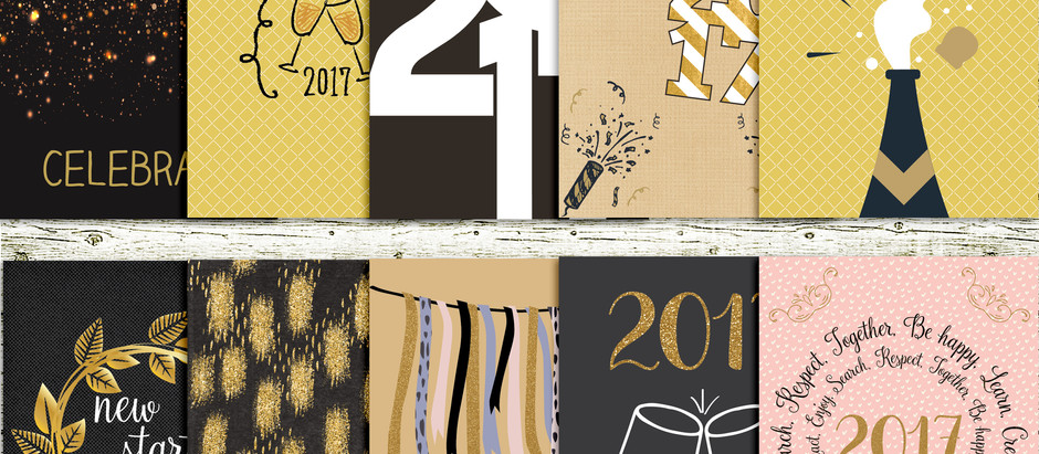 Welcome 2017 - journal cards