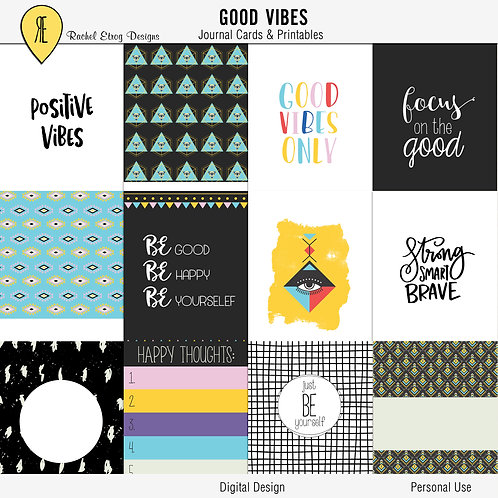 Good Vibes Journal Cards