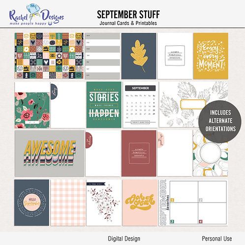 September Stuff - Journal cards