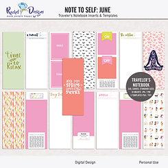 Note To Self June - Traveler's Notebook