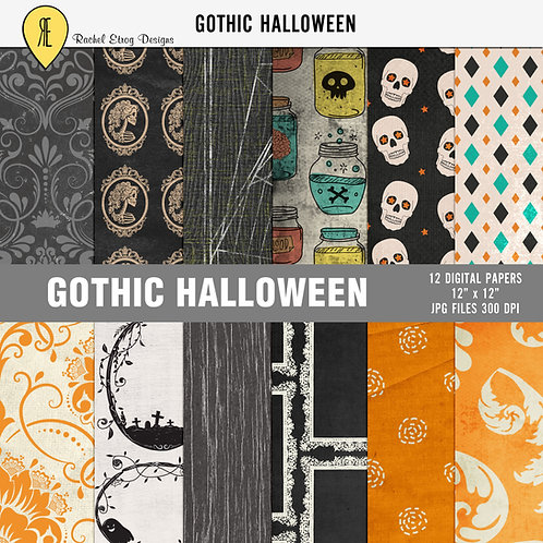Gothic Halloween - Papers