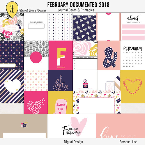 February documented 2018 - Journal cards