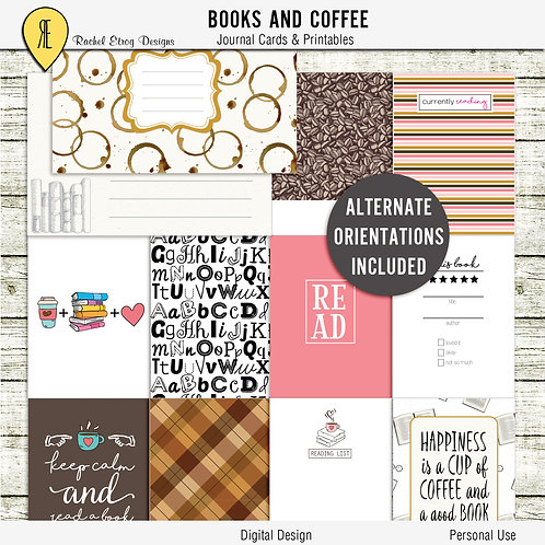 Books & Coffee Journal Cards