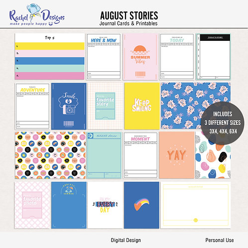 August Stories - Journal cards