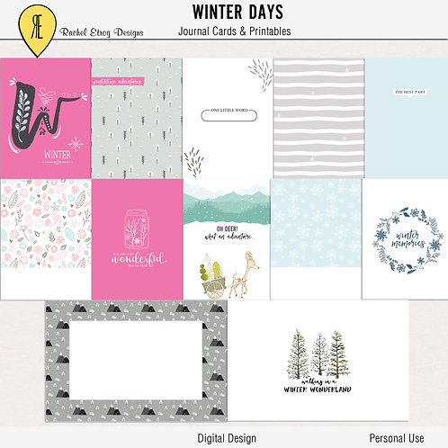 Winter Days - Journal cards