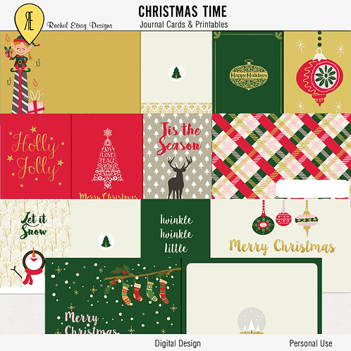 Christmas Time Journal Cards