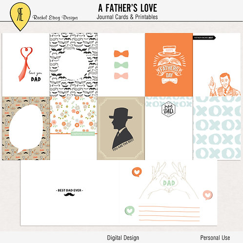 A Fathers Love - Journal cards