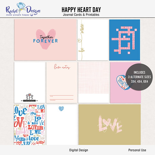 Happy Heart Day - Journal cards