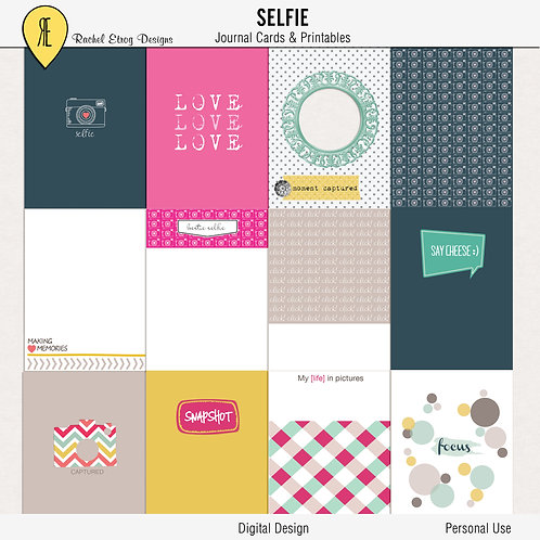 Selfie Journal Cards