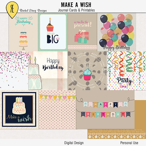 Make A Wish Journal Cards
