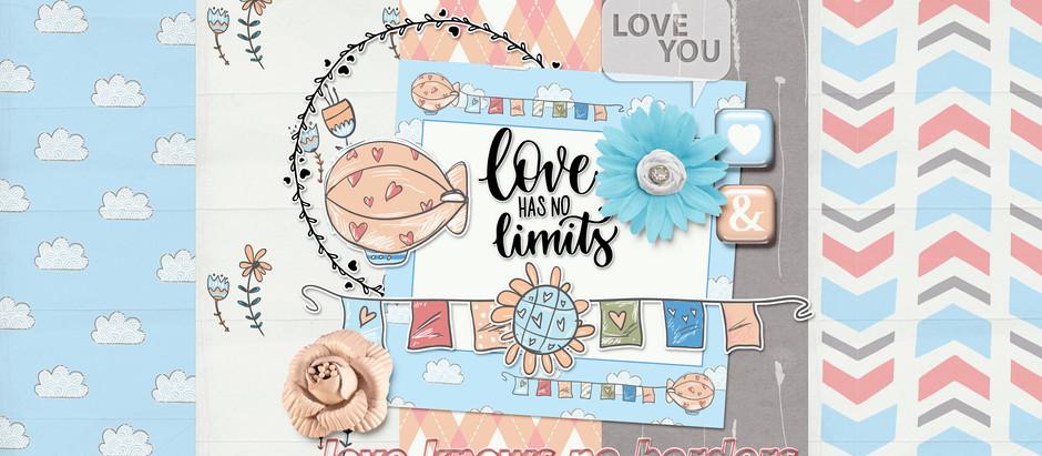 Love knows no borders- March Pixel Scrapper Blog Train