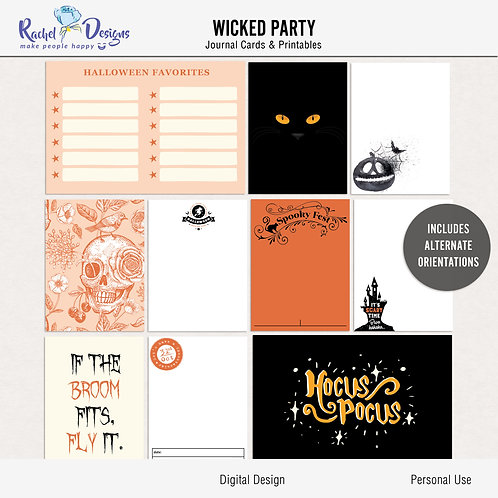 Wicked Party - Journal cards