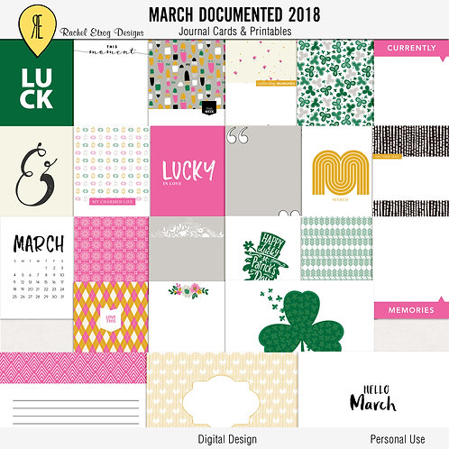 March documented 2018 - Journal cards