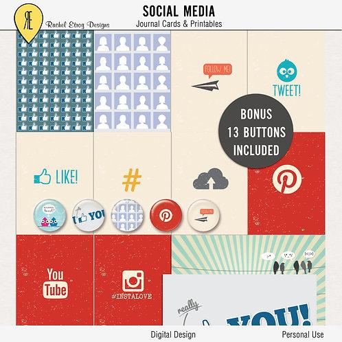 Social media Journal Cards