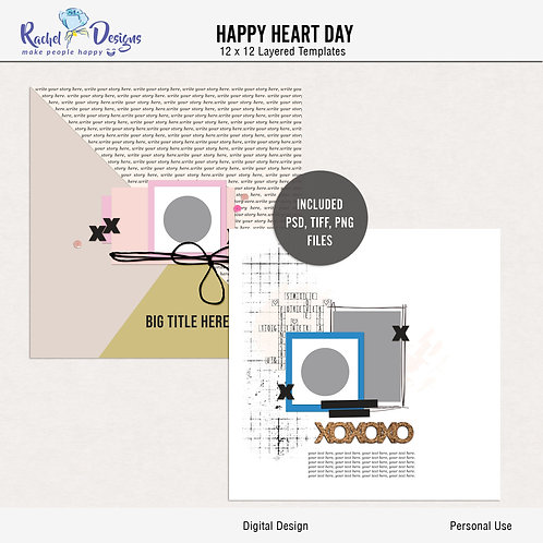 Happy Heart Day - Templates