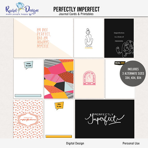 Perfectly Imperfect - Journal cards