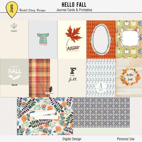 Hello Fall Journal Cards