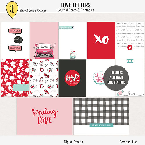 Love Letters - Journal cards