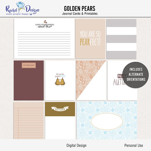 Golden Pears - Journal cards