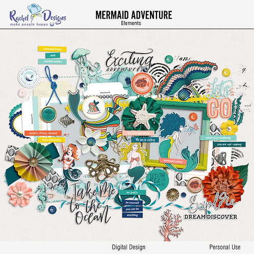 Mermaid adventure - Elements