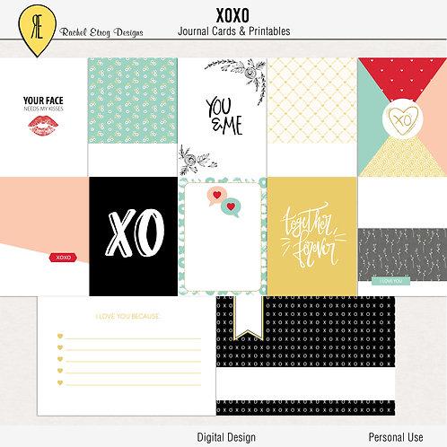 XOXO - Journal cards